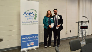 Roseanne Mirabella and Timothy Hoffman at the ASPA award ceremony.