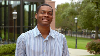 Christian Gardner, sophomore in the Visual and Sound Media major.