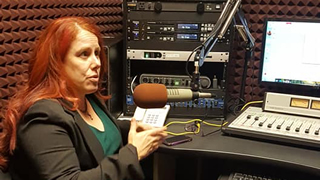 Photo of Heidi Campbell, Ph.D. in WSOU Studio