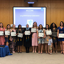 Group photo of social work honor society inductees. x222