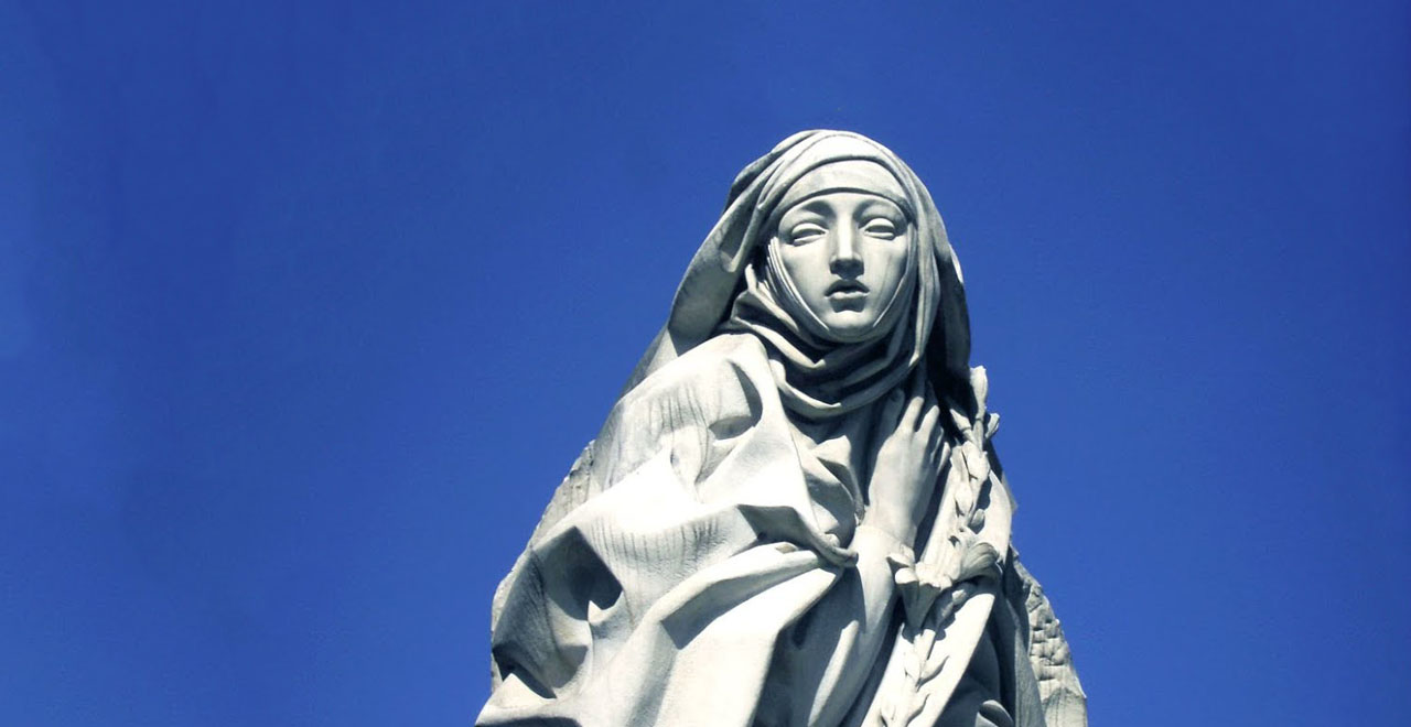 A Statue of St. Catherine of Siena