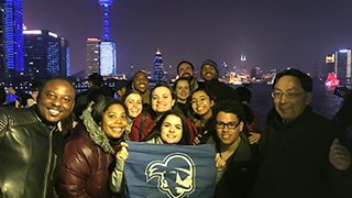 School of Diplomacy and International Relations China study abroad spring 2018 group photo
