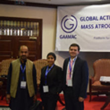 Photo of Emanuel Hernández at the GAAMAC conference