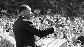Martin Luther King, Jr. Giving a Speech
