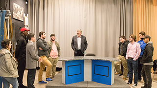 Students at ESPN Bob Ley's masterclass