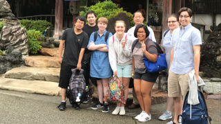 Seton Hall students studying abroad in Japan.