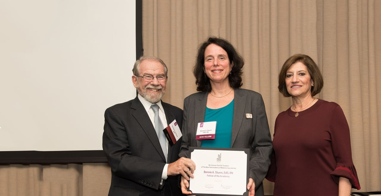Bonnie Sturm, Ed.D., R.N., Inducted as Fellow to New York Academy of Medicine for Scholarly Achievements