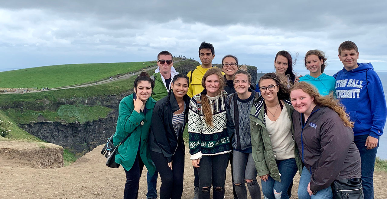 A photo of students traveling abroad in Ireland