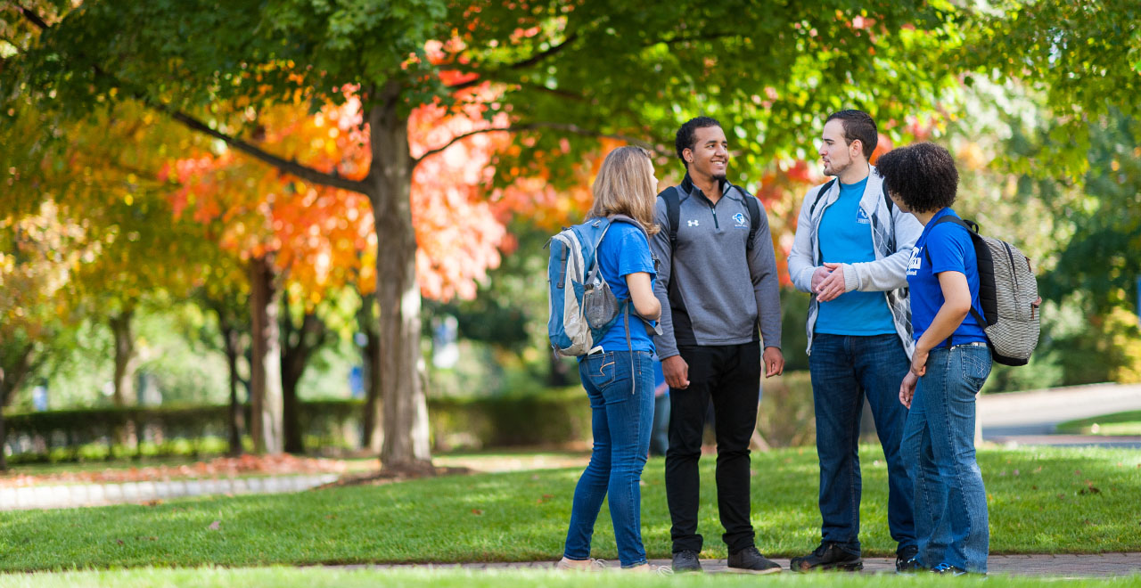 Seton Hall Undergraduate Students on Campus in the Fall