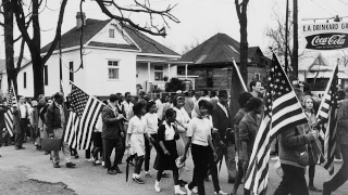 People participating in the Freedom Summer