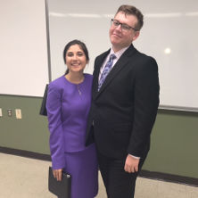 Jonathan Thow and Jocelyn Rogalo in Debate team
