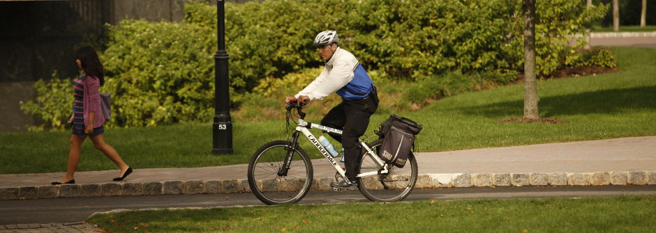Public Safety official on bicycle.
