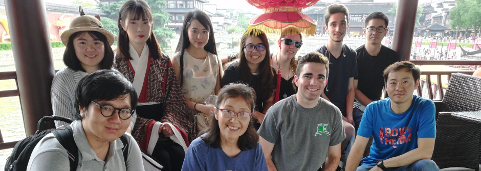 Students and faculty studying abroad in China.