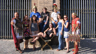 Seton Hall students studying abroad in Rome.