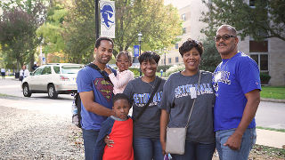 Alumni family at Seton Hall Weekend.
