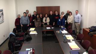 Faculty and administrators who attended the University's Seminar on Mission.