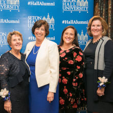 Dean Marie Foley, centered, pictured with the 2019 Margaret C. Haley Awards honorees