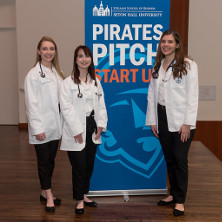 Nursing students participating in the Pirates Pitch competition.