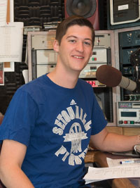 Clayton Collier in the WSOU booth